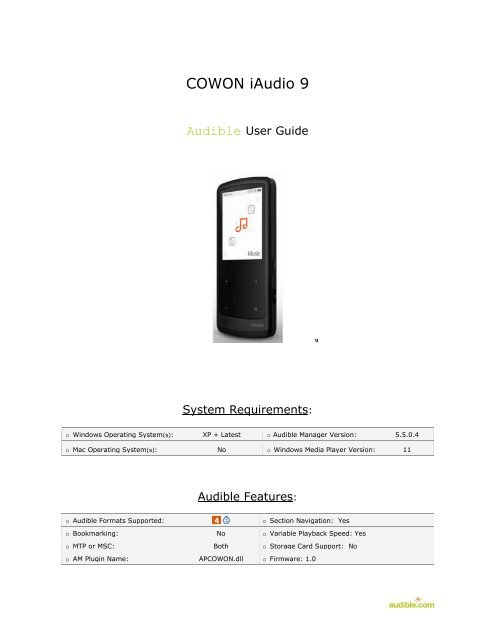 COWON MTP DRIVERS DOWNLOAD