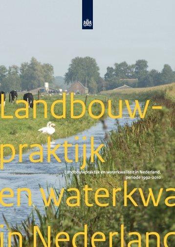 Landbouwpraktijk en waterkwaliteit in Nederland ... - Rijksoverheid.nl
