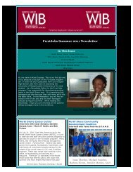 F1rstJobs Summer 2011 Newsletter - North Shore Workforce ...
