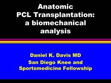 Davis - Anatomic PCL transplantation