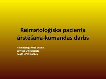Reimatoloģiska pacienta ārstēšana-komandas darbs