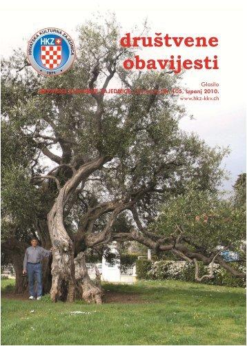 društvene obavijesti - Hrvatska kulturna zajednica u Švicarskoj