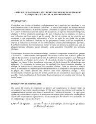 GUIDE D'UTILISATION DE L'INSTRUMENT DE MESURE DU ...