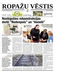 """Noslēgušies rekonstrukcijas darbi """"Rodenpois"""" un """"Annelē"""" - Ropaži.lv"""