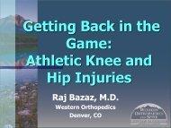 Athletic Knee And Hip Injuries