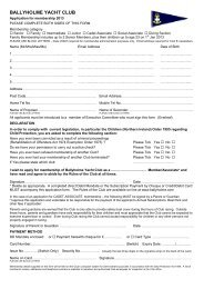 BYC Membership Application Form 2013 - Ballyholme Yacht Club