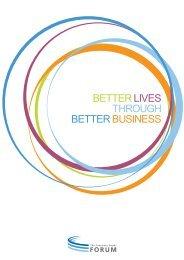 BETTER LIVES THROUGH BETTER BUSINESS - Consumer Goods ...