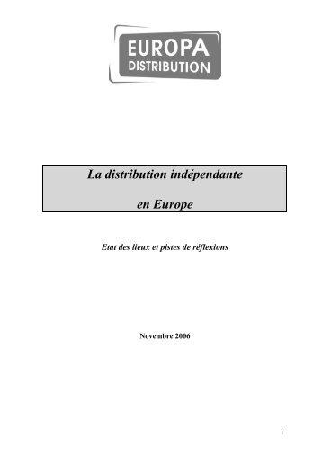La distribution indépendante en Europe - Europa Distribution