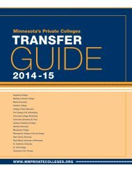 2013-14 Transfer Guide (835 KB PDF) - Minnesota's Private Colleges