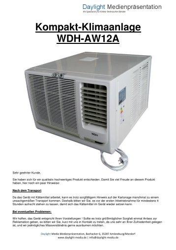 Kompakt-Klimaanlage WDH-AW12A - daylight-media.de