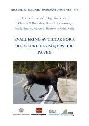 evaluering av tiltak for å redusere elgpåkjørsler på veg - Nina
