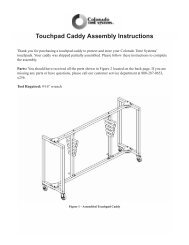 Touchpad Caddy Assembly Instructions - Colorado Time Systems