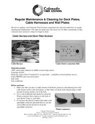 Cleaning for Deck Plates - Colorado Time Systems