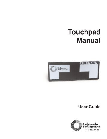 Touchpads - Colorado Time Systems