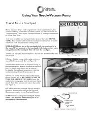 Using Your Vacuum Pump (VP-2) - Colorado Time Systems