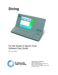 Diving - Colorado Time Systems