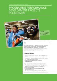 Development Projects - Eastern Cape Development Corporation