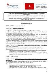 Programme - CREDHO