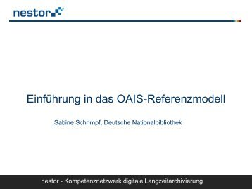 Einführung in das OAIS-Referenzmodell - RatSWD