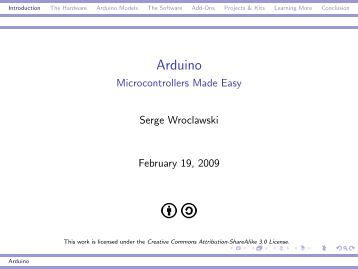 Arduino - Microcontrollers Made Easy - Tux.org