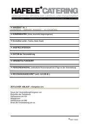 Hafele Catering Factsheet 2 - KitzKongress