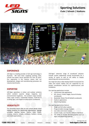 Sporting Solutions - LED Signs Australia