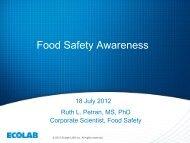 Food Safety Awareness - IMCEA