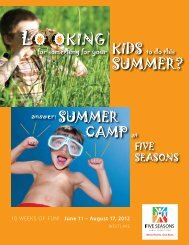 LO OKING SUMMER? - Five Seasons Sports Club