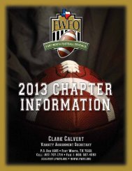 Chapter Information - Fort Worth Football Officials Association