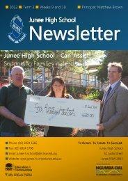 No 14 Newsletter September 2013 - Junee High School
