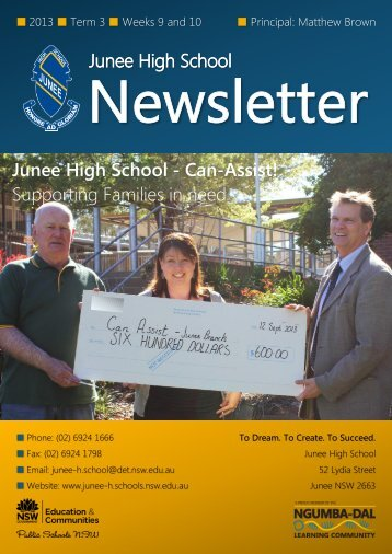 No 14 Newsletter September 2013 - Junee High School