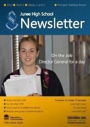 No 10 Newsletter July - Junee High School
