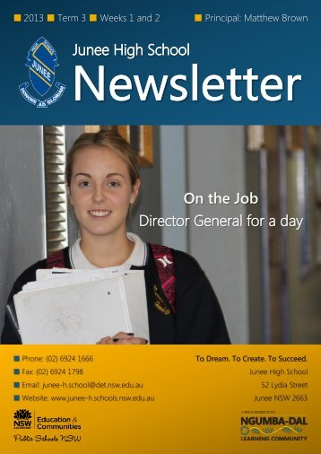 No 10 Newsletter July - Junee High School