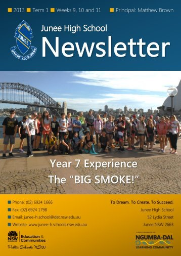 No 5 Newsletter April 2013 - Junee High School