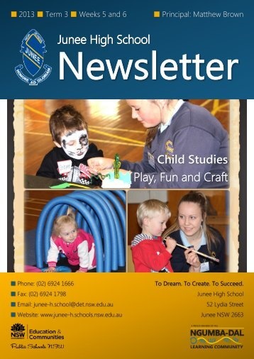 No 12 Newsletter August - Junee High School