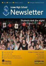 No 15 Newsletter October 2013 - Junee High School
