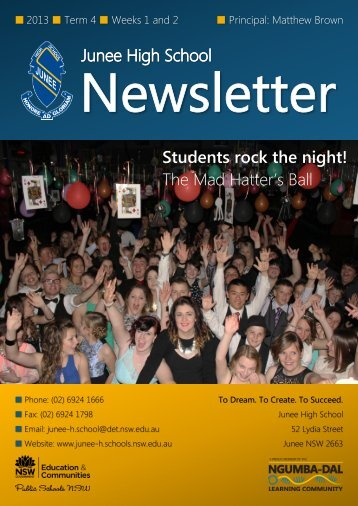 No 15 Newsletter October 2013 - Junee High School