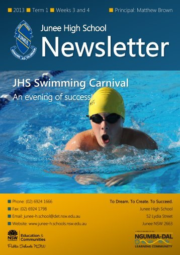 No 2 Newsletter - Junee High School