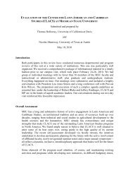 External Evaluation Final Report (PDF) - Center for Latin American ...