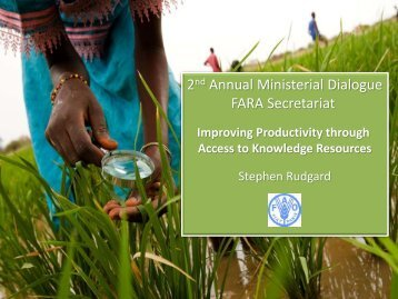 Improving agricultural productivity through direct access to ... - eRails