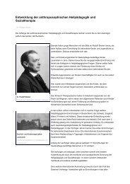Entwicklung der anthroposophischen Heilpädagogik und ...