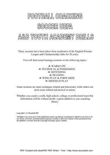 YOUTH UEFA A&B ACADEMY SESSIONS