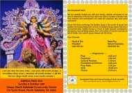 DURGA PUJA 2011 Sunday 9 October 2011 Venue - Sydneybashi ...