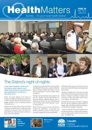 SLHN January 2013 - Sydney Local Health District
