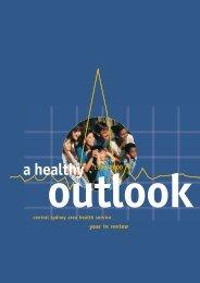 Healthy Outlook - Sydney Local Health District - NSW Government