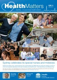 June 2012 - Sydney Local Health District