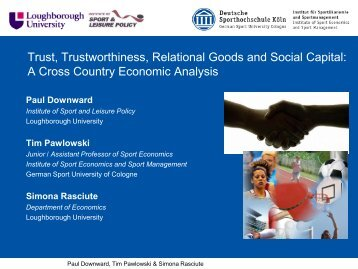 Trust, Trustworthiness, Relational Goods and Social Capital: A ...