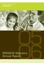 SSWAHS Statutory Annual Report - Sydney Local Health District