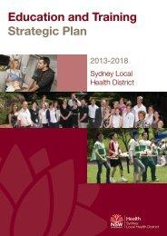 Sydney Local Health District Education and Training Strategic Plan ...