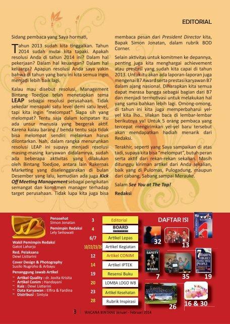 Wacana Bintang Januari - Februari 2014